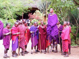 Masai dancers jumping