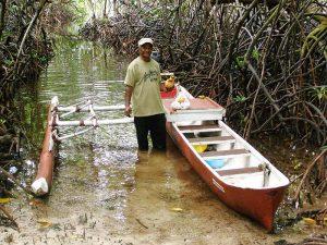 Kosrae outrigger canoe