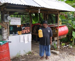 Kosrae gasoline vendor