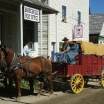 horse and wagon barkerville