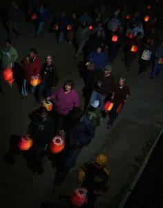lantern parade Barkerville