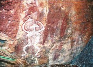 Quinkan rock art painting