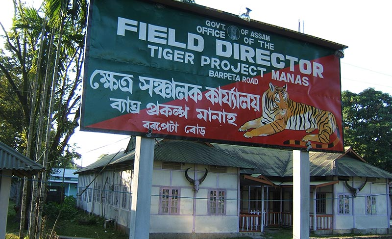 Tiger project office in Manas, India