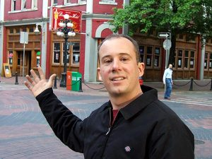 Vancouver walking tour guide Mark Thomson