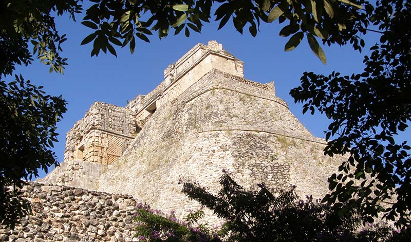 Pyramid of the Magician Uxmal Yucatan