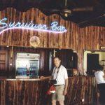 Survivor bar at Pulau Tiga resort